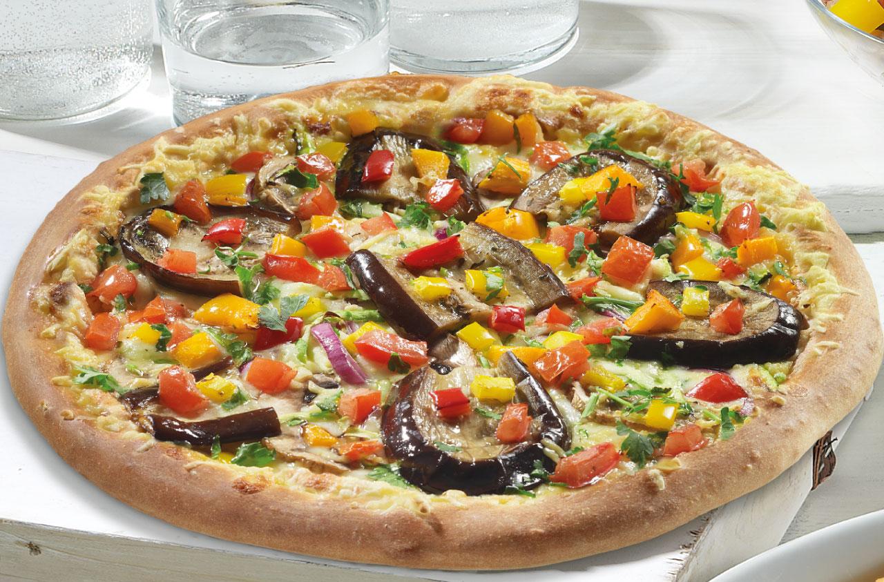 pizza λαχανικά