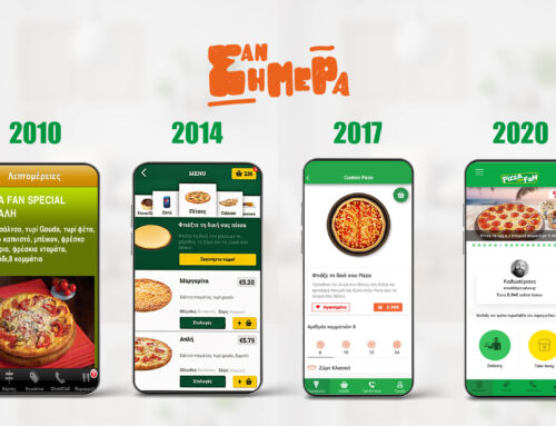 Pizza Fan App evolution | Σεπτέμβριος 2010 – 2020